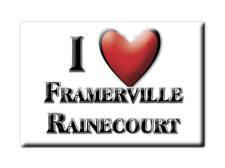 MAGNETS FRANCE - FRANCHE COMTÉ AIMANT I LOVE FRAMERVILLE RAINECOURT (SOMME)