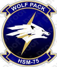 STICKER USN HSM 75 Wolf Pack