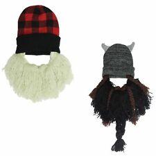 Beard Knit Watch Hat for Men - Winter Beanie - Viking, Lumberjack - One Size