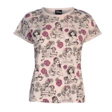 DISNEY t-shirt top femme PRINCESSES beige rose XS S M L XL XXL (2XL)