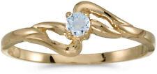 10k Yellow Gold Round Aquamarine Ring (CM-RM1039-03)