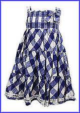 Niñas Vestidos-siguiente Floral-Kremer Kitty-Cuadros Azules-edades 9-12 M a 5-7 años