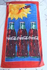 Coca-Cola - DRAP DE BAIN OU PLAGE 1998 NEUF COCA-COLA SOLEIL 75 cm x 150 cm