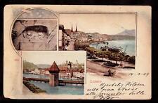 1899 multi-view luzern switzerland pioneer postcard