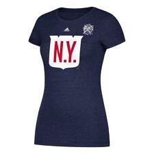 New York Rangers Adidas 2018 Winter Classic Jersey Crest Logo T-Shirt Women's