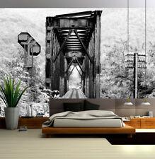 3D Rail Telephone Pole Wall Paper Murals Wall Print Decal Wall Deco AJ WALLPAPER