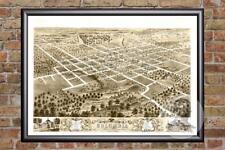 Vintage Columbia, MO Map 1869 - Historic Missouri Art - Old Victorian Industrial