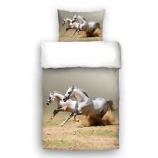 Schwanberg Bettwäsche Running Horses Pferde Rennpferde Hengst Stute Renforcé