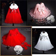 Vestito Natale Cerimonia Felpato Feste Bambina Party Girl Christmas Dress CDR066