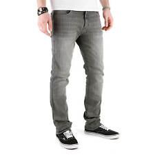 SUPERSLICK elasticizzato jeans pantaloni grigio - aderente TUBO FLESSIBILE-