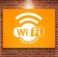 Wifi Sticker Wall Vinyl Cafe Shop Bar Decal Free Inside UK Manufacture