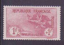 """FRANCE N°154 """"ORPHELINS 1F+1F CARMIN"""" NEUF xx TTB,SIGNE"""