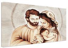 Quadro moderno Sacra Famiglia D Capezzale Arredamento Casa Arte Stampa su tela