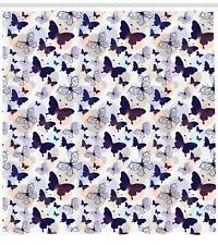 Pet Animals Pattern Shower Curtain Fabric Decor Set with Hooks 4 Sizes