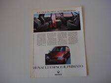 advertising Pubblicità 1992 RENAULT ESPACE