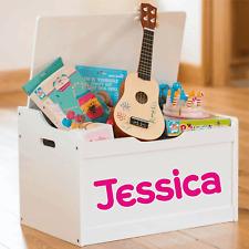 Etiqueta engomada de la Caja de Juguetes Nombre Personalizado Niños Dormitorio Pared Arte Bebés Cuna Cuna