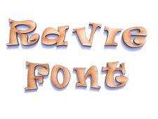 RAVIE FONT WOODEN LETTERS lettering word craft card make wall art door plaque