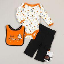 NEW NWT Boys Cutie Pie 1st Halloween 4 Piece Set Newborn 3 6 9 12 Months Booties