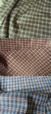Stoffe Meterware Baumwolle gewebtes Karomuster leicht angerauht 150 cm breit