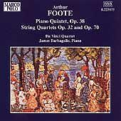 "ARTHUR FOOTE - ""Chamber Music #1"" - CD - piano strings - DA VINCI QUARTET Boston"