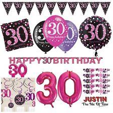 30th rose célébration Fête D'anniversaire Fournitures Ballons Vaisselle & Décorations
