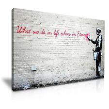 Banksy ciò che facciamo in vita riecheggia nell'eternità a muro arte casa ufficio Deco