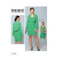 NEW Vogue Pattern V1536 Misses Petite Cropped Jacket and V-Neck, Princess Seam D