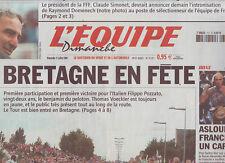 journal  l'equipe 11/07/2004 CYCLISME TOUR DE FRANCE LE PELETON EN BRETAGNE