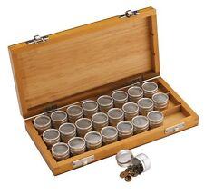 Caja de Madera con inserto redondo de aluminio cajas con tapas de sello a través de