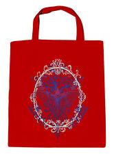 Bolsa de algodón Bolsa De Tela Presión motriz Fantasy Mariposa 09582-2 rojo