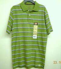 Men's Polo Shirt Wrangler Short Sleeve (Size Small) NWT Green w/Stripes