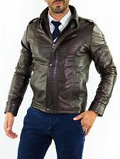 ★Giacca Giubbotto Uomo in di PELLE 100% Men Leather Jacket Veste Homme Cuir 14n6