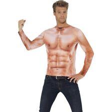 Adonis Körper Sixpack Muskel Kostüm Sportler Muskelkostüm Muskelshirt Oberteil