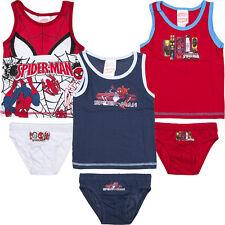 Neu Unterwäsche 2tlg. Set Jungen Hemd Slip Spiderman 92-98 104-110 116-122 #160