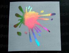 Pintura Splat x 2 Holograma Plateado Espejo NEO Cromo Coche Pared a medida