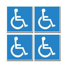 4 x badge bleu handicapés mobilité voiture sticker vw bus caravane camping-car decal 0218