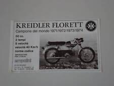 advertising Pubblicità 1975 MOTO KREIDLER FLORETT 50