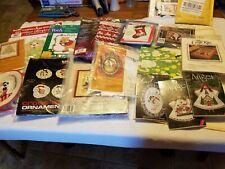 13 Christmas Embroidery kits, Bucilla, Bernat, Sunset, Creative Circle, Disney,