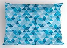 Geometric Pillow Sham Decorative Pillowcase 3 Sizes Available for Bedroom Decor