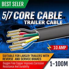 5 / 7 Core Wire Cable Trailer Cord Boat Caravan Electric 6 10 20 30 40 50 100m