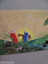 Vtg Christmas Card 60's Holy Family Donkey Flight to Egypt Hallmark Slim Jim