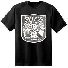 Mens Walking Dead Saviors Distressed T Shirt Negan Rik Daryl Lucile Hilltop TV