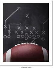 Football Game Plan Art Print Home Decor Wall Art Poster - E
