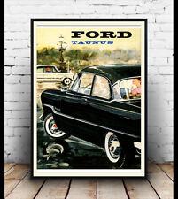 Ford Taunus, vintage años 60 Motorcar Publicidad Cartel reproducción.