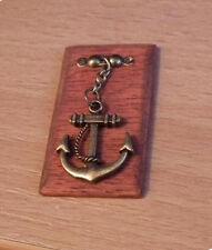 1/12 dolls house miniature Handmade Brass Anchor Plinth Fishing Cottage Pub LGW