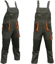 Bib and Brace Overalls Mens Work Trousers Bib Pants Knee Pad Multi Pocket