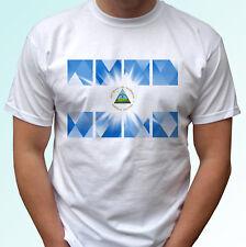 Nicaragua flag design white t shirt top modern tee - mens womens kids baby sizes