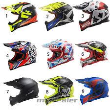 LS2 MX 437 Fast Fast EVO Crusher Vinales  Helm Motocross Crosshelm Enduro Quad