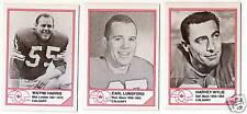1983 Jogo CFL HOF Earl Lunsford Stamps Oklahoma State