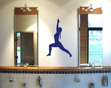 Yoga Virabhadrasana Krieger Wandtattoo  25 Farben 6 Größen Wandaufkleber Sticker
